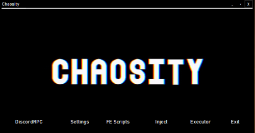 Chaosity home interface