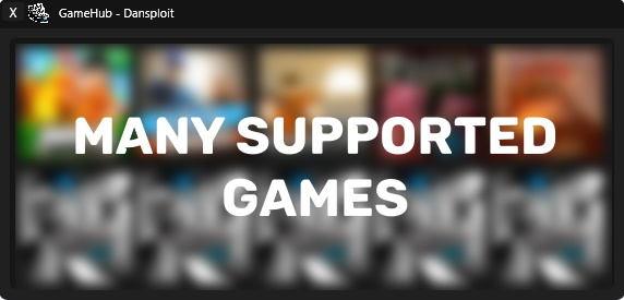 Dansploit games list interface