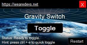 Gravity switch exploit interface